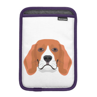 Illustration dogs face Beagle iPad Mini Sleeve