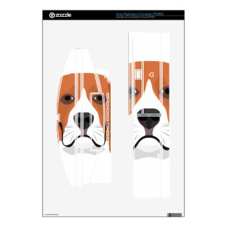 Illustration dogs face Beagle PS3 Console Decals