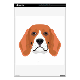 Illustration dogs face Beagle PS3 Slim Console Decal