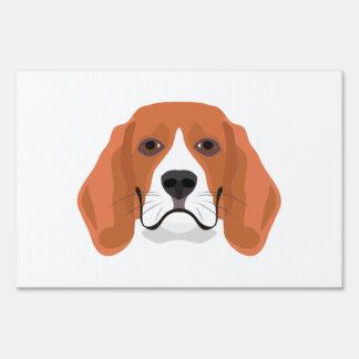 Illustration dogs face Beagle Sign