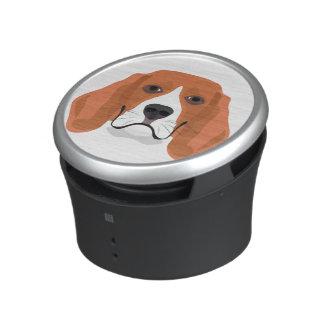 Illustration dogs face Beagle Speaker