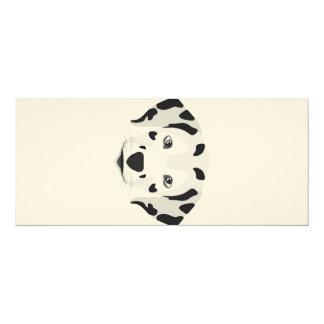 Illustration dogs face Dalmatian Card
