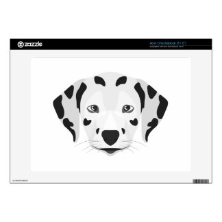 Illustration dogs face Dalmatian Decal For Acer Chromebook