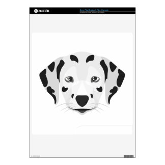 Illustration dogs face Dalmatian PS3 Slim Console Decal