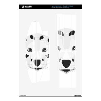 Illustration dogs face Dalmatian Skins For PS3