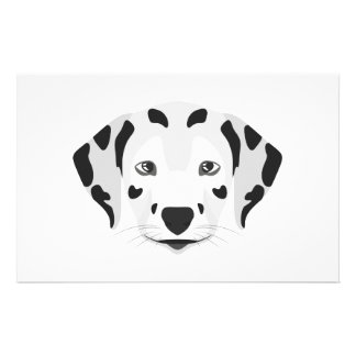 Illustration dogs face Dalmatian Stationery