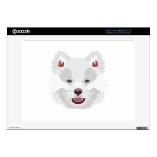 Illustration dogs face Finnish Lapphund Acer Chromebook Decal