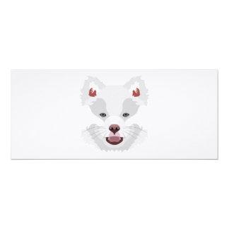 Illustration dogs face Finnish Lapphund Card