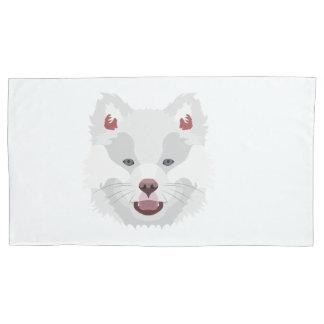 Illustration dogs face Finnish Lapphund Pillowcase