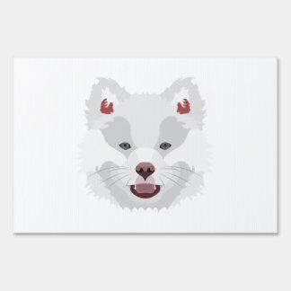 Illustration dogs face Finnish Lapphund Sign