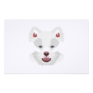 Illustration dogs face Finnish Lapphund Stationery