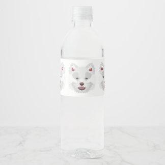 Illustration dogs face Finnish Lapphund Water Bottle Label