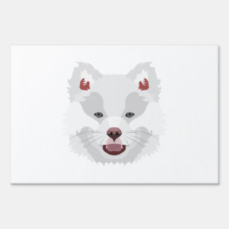 Illustration dogs face Finnish Lapphund Yard Sign