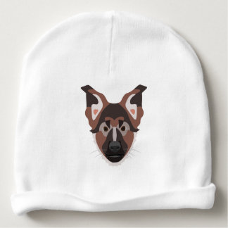 Illustration dogs face German Shepherd Baby Beanie