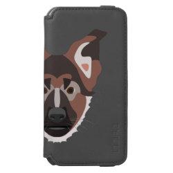 Incipio Watson™ iPhone 6 Wallet Case with German Shepherd Phone Cases design