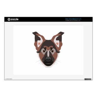 Illustration dogs face German Shepherd Skins For Acer Chromebook
