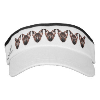 Illustration dogs face German Shepherd Visor