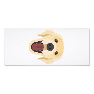 Illustration dogs face Golden Retriver Card