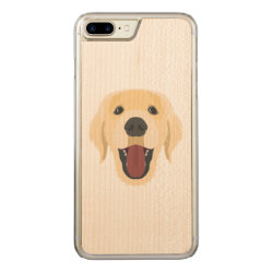 Carved Apple iPhone 7 Plus Wood Case with Labrador Retriever Phone Cases design