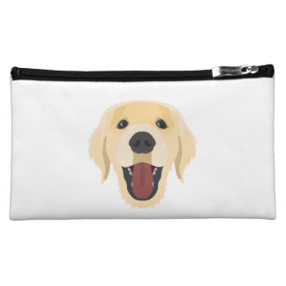 Illustration dogs face Golden Retriver Cosmetic Bag