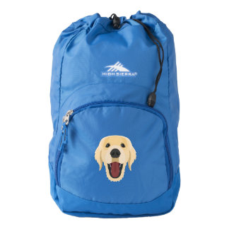 Illustration dogs face Golden Retriver High Sierra Backpack