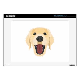 Illustration dogs face Golden Retriver Skins For Acer Chromebook
