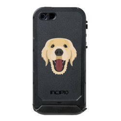 Illustration dogs face Golden Retriver Waterproof Case For iPhone SE/5/5s