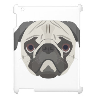 Illustration dogs face Pug Cover For The iPad