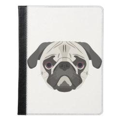 iPad 2/3/4 Folio Case by Ivoke with Pug Phone Cases design
