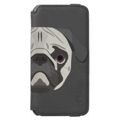Incipio Watson™ iPhone 6 Wallet Case with Pug Phone Cases design