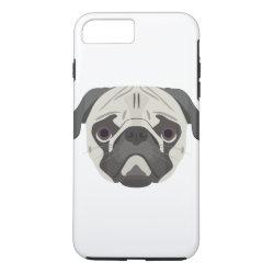 Case-Mate Tough iPhone 7 Plus Case with Pug Phone Cases design