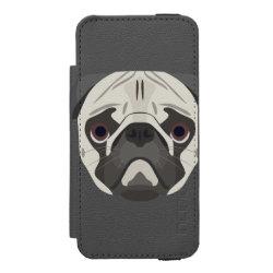 Incipio Watson™ iPhone 5/5s Wallet Case with Pug Phone Cases design