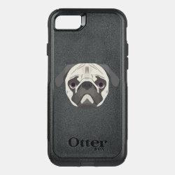 OtterBox Apple iPhone 7 Symmetry Case with Pug Phone Cases design