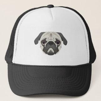 Illustration dogs face Pug Trucker Hat