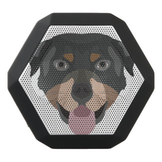Illustration dogs face Rottweiler Black Bluetooth Speaker