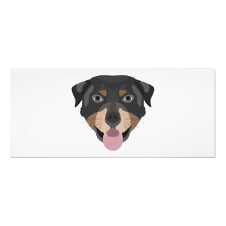 Illustration dogs face Rottweiler Card