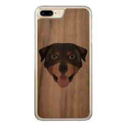 Illustration dogs face Rottweiler Carved iPhone 8 Plus/7 Plus Case