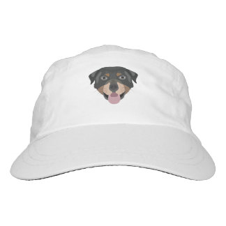Illustration dogs face Rottweiler Headsweats Hat
