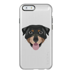 Illustration dogs face Rottweiler Incipio Feather Shine iPhone 6 Case