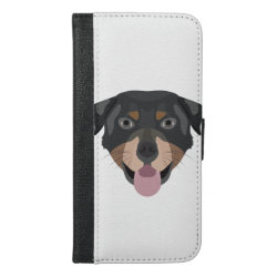 iPhone 6/6s Plus Wallet Case with Rottweiler Phone Cases design