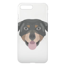 Uncommon iPhone 7 Plus Clearly™ Deflector Case with Rottweiler Phone Cases design