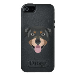 Illustration dogs face Rottweiler OtterBox iPhone 5/5s/SE Case