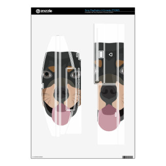Illustration dogs face Rottweiler PS3 Decals