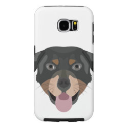 Illustration dogs face Rottweiler Samsung Galaxy S6 Case
