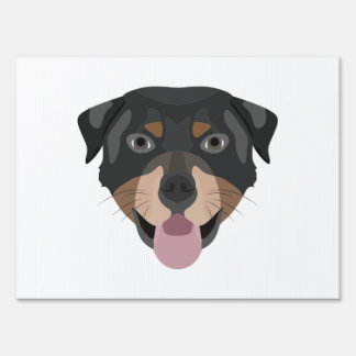 Illustration dogs face Rottweiler Sign