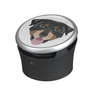 Illustration dogs face Rottweiler Speaker