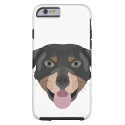 Illustration dogs face Rottweiler Tough iPhone 6 Case