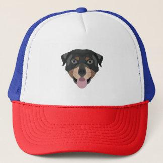 Illustration dogs face Rottweiler Trucker Hat