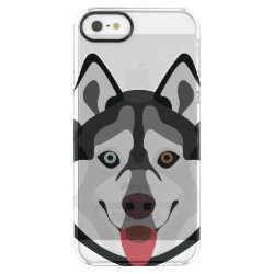 Uncommon iPhone 5/5s Permafrost® Deflector Case with Siberian Husky Phone Cases design