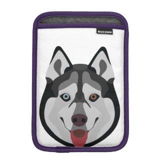 Illustration dogs face Siberian Husky iPad Mini Sleeve